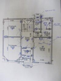 План 1 этажа с освещением